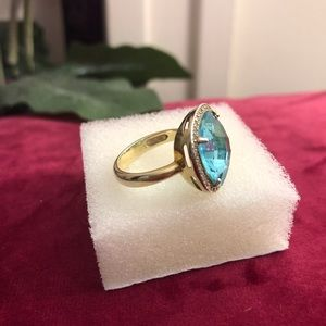 Jewelry - Gold clad Sterling Blue Topaz ring